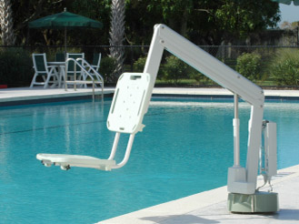 Axs series static swimming pool lift for Swimming pool lifting out of ground